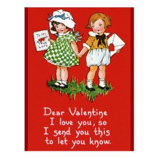 Tarjeta del día de San Valentín del vintage para