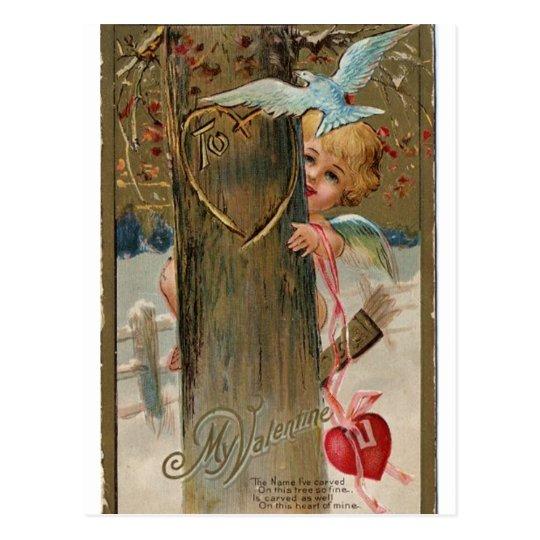 Tarjeta del día de San Valentín del vintage que