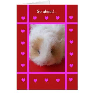 Tarjeta del día de San Valentín divertida --