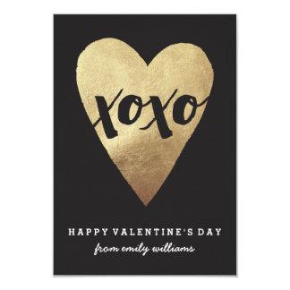 Tarjeta del día de San Valentín dorada de la sala Invitación 8,9 X 12,7 Cm