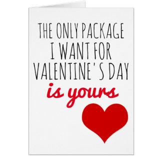 tarjeta del día de San Valentín el único paquete