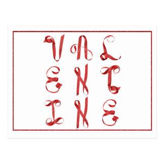 Tarjeta del día de San Valentín escrita con las Tarjeta Postal