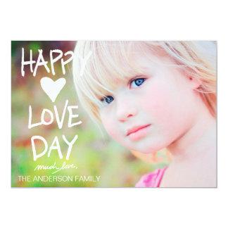 Tarjeta del día de San Valentín feliz blanca del Invitación 12,7 X 17,8 Cm