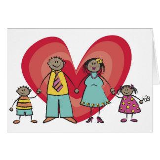 Tarjeta del día de San Valentín feliz del corazón