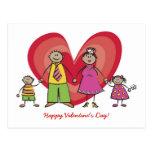 Tarjeta del día de San Valentín feliz del corazón  Postal