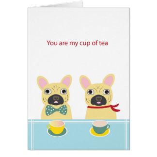 Tarjeta del día de San Valentín Frenchie