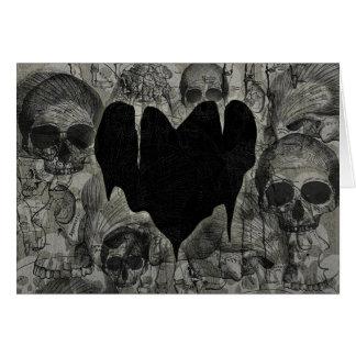 Tarjeta del día de San Valentín gótica del corazón