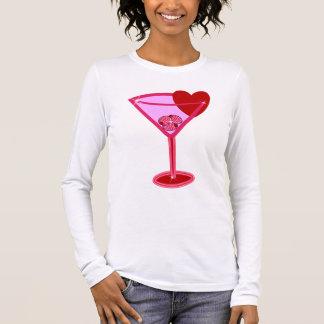 Tarjeta del día de San Valentín Martini Camiseta De Manga Larga