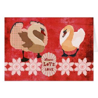 Tarjeta del día de San Valentín ostentosa del amor