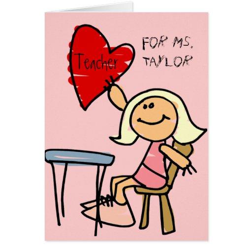 tarjeta del día de San Valentín para el profesor
