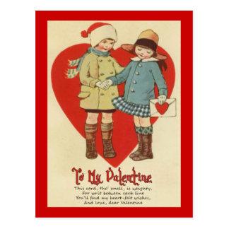 Tarjeta del día de San Valentín para los niños Tarjetas Postales
