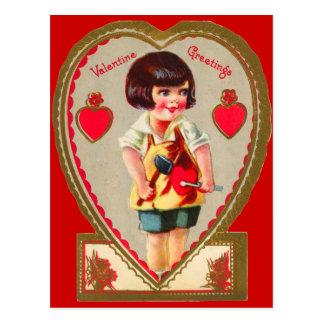 Tarjeta del día de San Valentín para los niños Postal