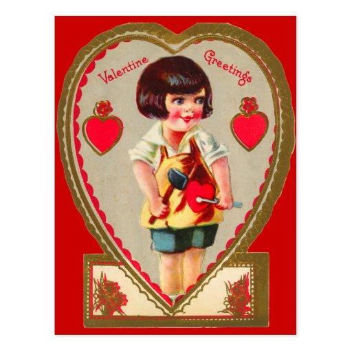 Tarjeta del día de San Valentín para los niños Postales