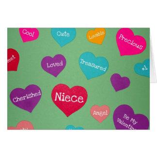 ¡Tarjeta del día de San Valentín para una sobrina  Tarjeta De Felicitación