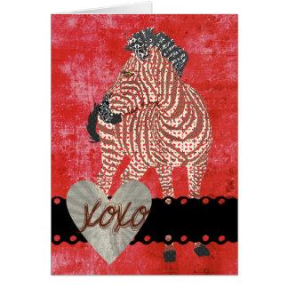 Tarjeta del día de San Valentín retra de Zenya XOX