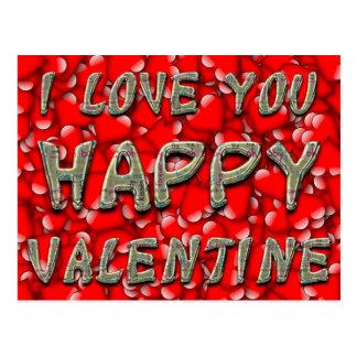 Tarjeta del día de San Valentín roja de la Postal