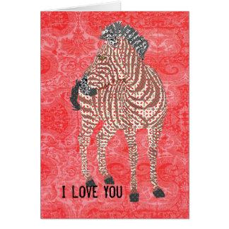 Tarjeta del día de San Valentín roja de Zenya del