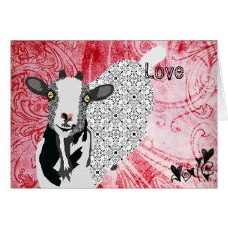 Tarjeta del día de San Valentín roja del amor de