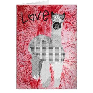 Tarjeta del día de San Valentín roja del amor de l