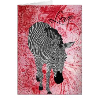 Tarjeta del día de San Valentín roja del amor de Z