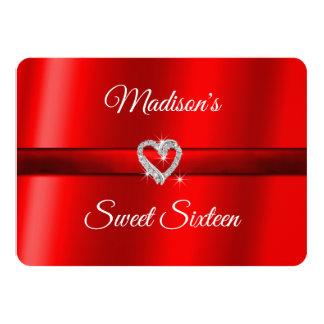 Tarjeta del día de San Valentín roja, dulce