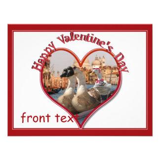 Tarjeta del día de San Valentín romántica del pase