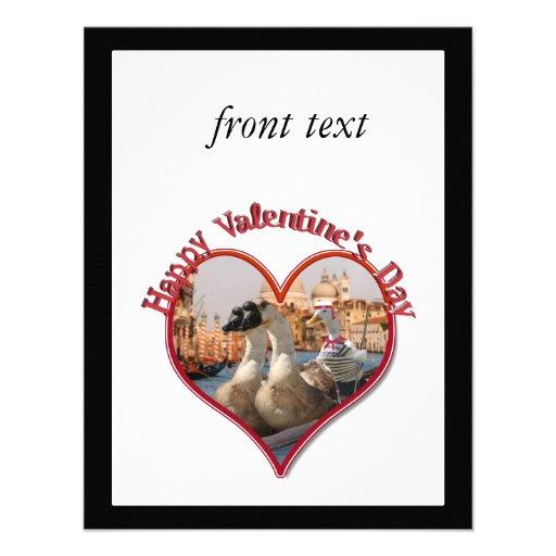 Tarjeta del día de San Valentín romántica del pase Invitaciones Personales
