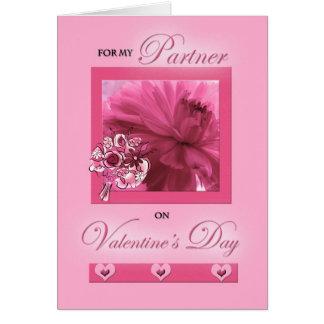 Tarjeta del día de San Valentín rosada de la