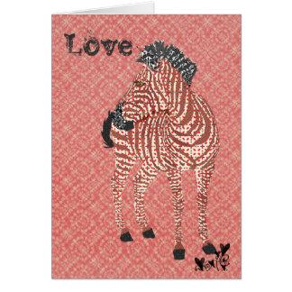 Tarjeta del día de San Valentín rosada del amor de