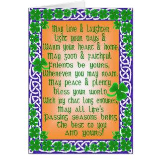 Tarjeta del día de St Patrick adaptable