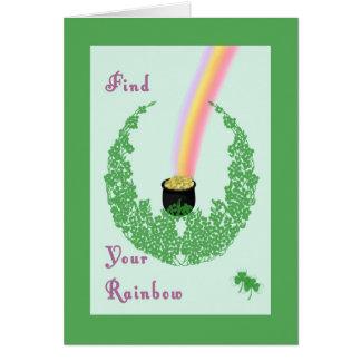 Tarjeta del día de St Patrick con diseño de la