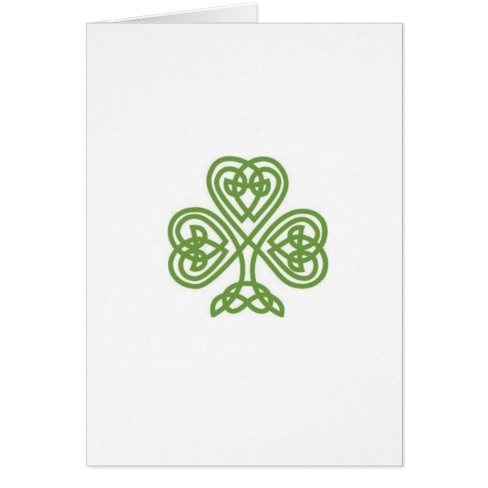 Tarjeta del día de St Patrick con el soneto
