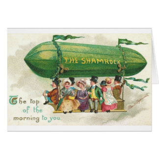 Tarjeta del día de St Patrick del dirigible no