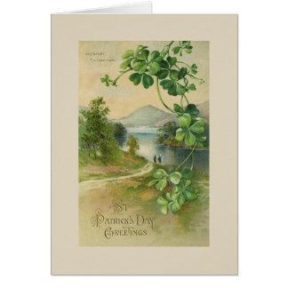 Tarjeta del día de St Patrick del lago killarney