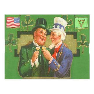 Tarjeta del día de St Patrick del Leprechaun del
