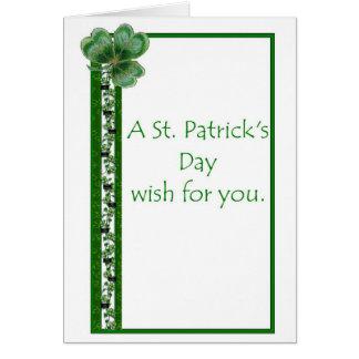 Tarjeta del día de St Patrick del misionario de