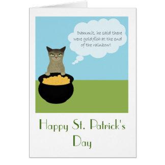 Tarjeta del día de St Patrick divertido con el