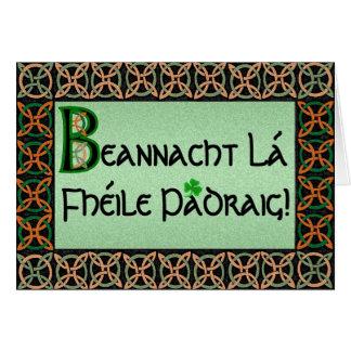 Tarjeta del día de St Patrick gaélico irlandés