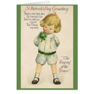 Tarjeta del día de St Patrick irlandés del