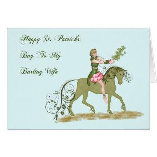 Tarjeta del día de St Patrick para la esposa