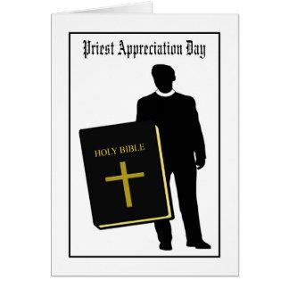 Tarjeta del día del aprecio del sacerdote