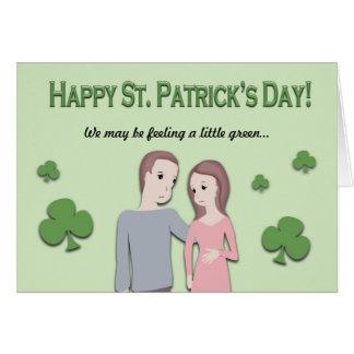 Tarjeta del día del St. Patricks y invitación del
