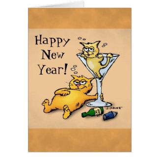 Tarjeta del dibujo animado de la Feliz Año Nuevo