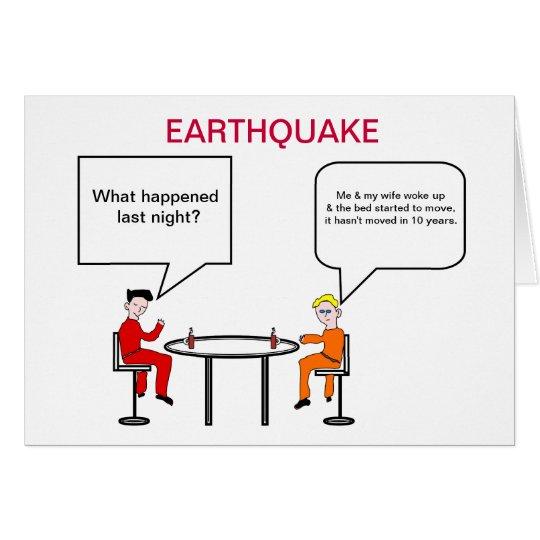 Tarjeta del dibujo animado del terremoto