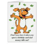 Tarjeta del dinero del cumpleaños