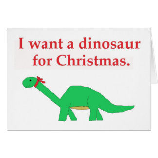 Tarjeta del dinosaurio del navidad