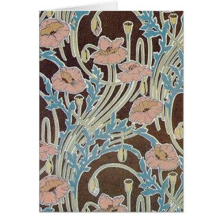 Tarjeta del diseño de la materia textil de las