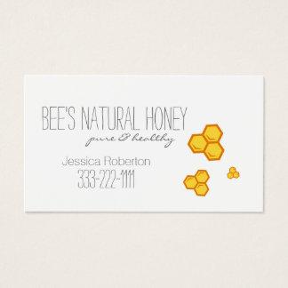 Tarjeta del diseño del panal del apicultor del