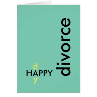 Tarjeta del divorcio