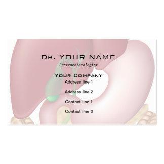 Tarjeta del doctor visita del sistema digestivo tarjetas de visita